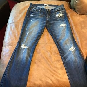 Abercrombie and Fitch distressed denim